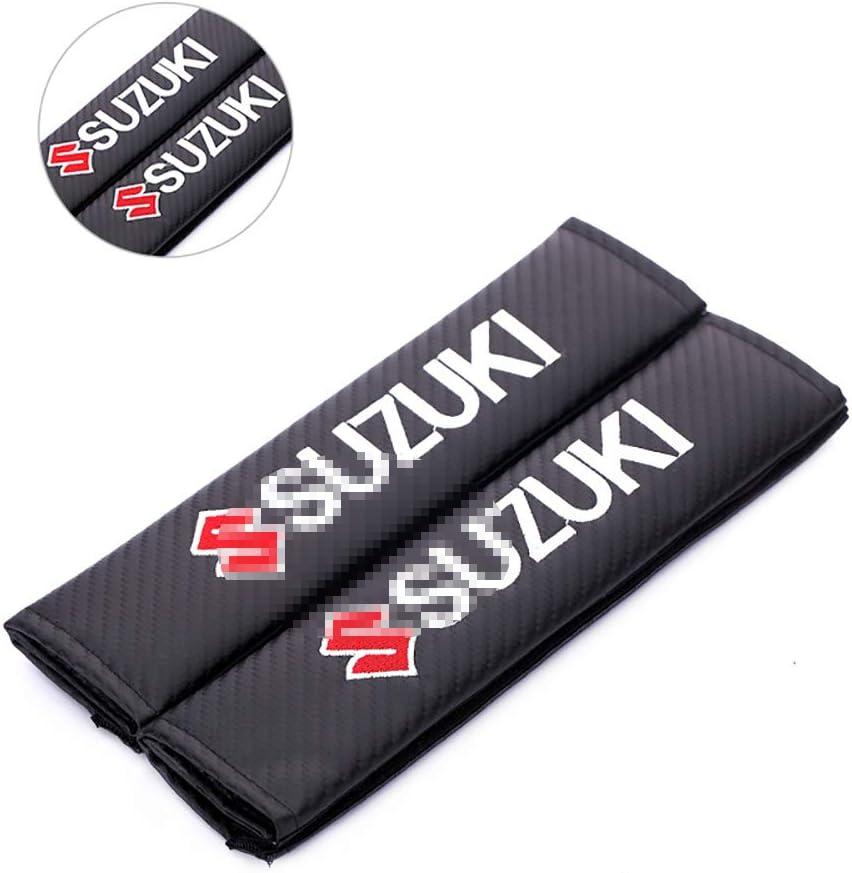 L/&U Carbon-Faser-Stickerei-Auto-Sicherheitsgurt-Abdeckungen Leder Schulterpolster,for Audi