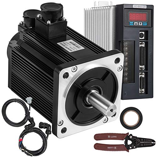 Mophorn 2KW AC Servo Motor 7.7Nm and Driver Controller Kit 130ST-M07725 AC Motor 2500R/Min