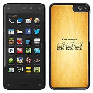 EJOY---Cubierta de la caja de protección la piel dura para el / Amazon Fire Phone / --¿Cuál usted Cordero divertido