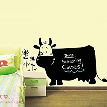 Creative Pvc Ambiental Pared Pegatina Big Cow Dibujos Animados ...