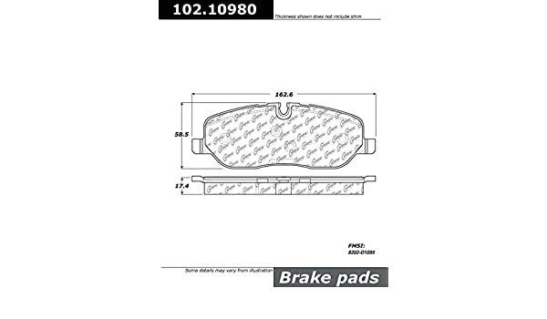Centric Parts 102.10980 102 Series Semi Metallic Standard Brake Pad