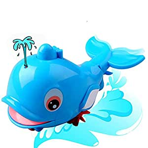 Kanzd New Born Babies Swim Dolphin Wound-Up Chain Small Animal Bath Toy Classic Toys