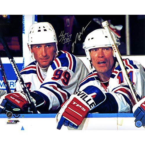 Mark Messier & Wayne Gretzky Dual Autographed Signed New York Rangers 16x20 Photo Uda/Ssm