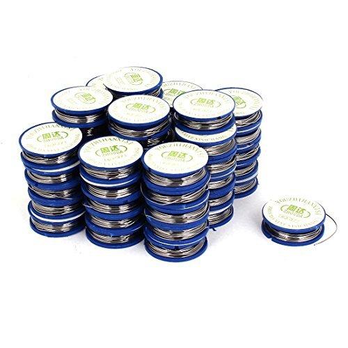 eDealMax 50 Pcs 0.7mm Dia. 63/37 Tin Lead Rosin Core DIY Soldering Solder Wire