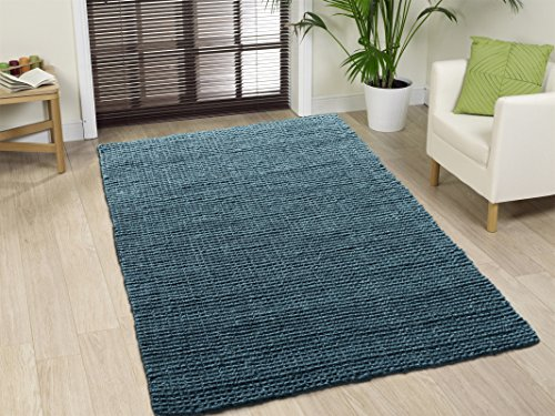 A1 Home Collections A1NFR017-B A1HC Handspun Boucle Jute Rug, Grey, 5' L x 8' W,