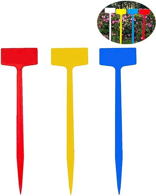 Csheng Marcadores para Plantas Jardín Etiqueta Planta de plástico Reutilizable Etiquetas de Plantas para Semillas Etiquetas de Plantas para Hierbas Random Color,10pcs: Amazon.es: Hogar