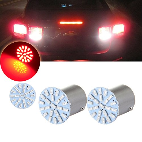 CCIYU 2PCS 1156 22SMD Red LED Exterior Light Bulbs for Backup Reverse Tail Light - 2005 Buick Century Left Tail