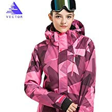 VECTOR Waterproof Breathable Windproof Hiking Camping Coat Ski Jacket Women M