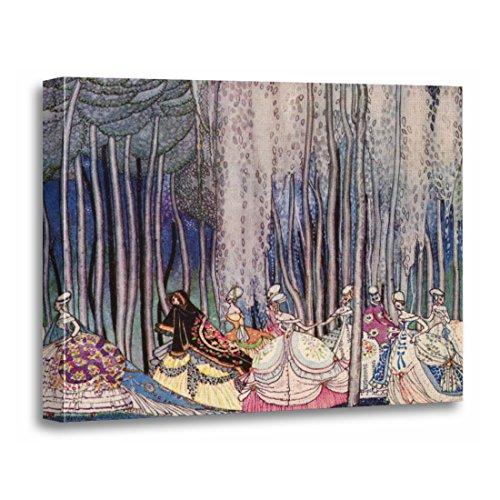 TORASS Canvas Wall Art Print Kay Pretty Fairytale Princess Nielsen Girls Storybook Vintage Artwork for Home Decor 12