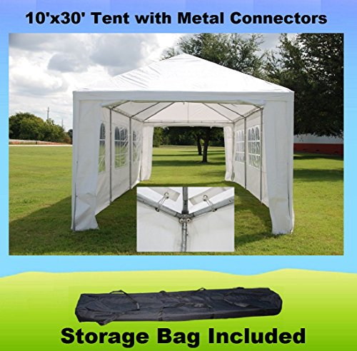 10'x30' w Metal Connectors Wedding Party Tent Canopy (Metal Tent)