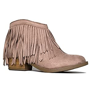 Marrow Fringe Ankle Boot, Lt Taupe Suede, 10 B(M) US
