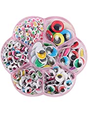 Googly Eyes, 400 PCS Color Self Adhesive Wiggle Eyes for Art Craft Supplies,doll Making and Scrapbooking (5 to 15mm)