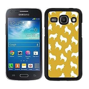 Funda carcasa para Samsung Galaxy Core Plus estampado perro perros collie fondo naranja borde negro