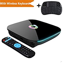 TopYart 4K Android 5.1 Smart TV BOX [2GB/16GB] Amlogic S905 Smart Set Top Box Bluetooth Quad Core Wifi Dual + Wireless Keyboard
