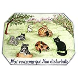 CERAMICHE D'ARTE PARRINI - Italian Ceramic Art Pottery Tile House Custom Panels Decorated cats Hand Painted Made in ITALY Tuscan