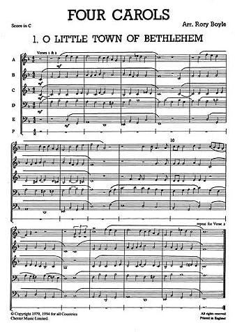Junior Just Brass 03: cuatro Villancicos para latón 5 parte 2 ...