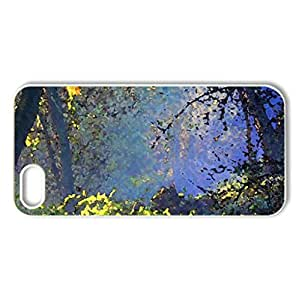 Autumn Morning - Case Cover for iPhone 5 and 5S (Forests Series, Watercolor style, White)