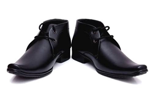 4800065d562f Shockerrock Men s Black Formal Shoes(10)  Buy Online at Low Prices ...