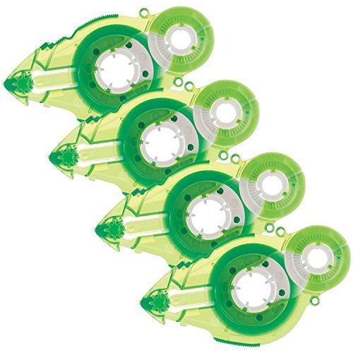 Vellum Dispenser Adhesive (Plus Corporation Glue Tape Tg-611Bc-Ve - Vellum Adhesive, Refill 4-Pack (60392))
