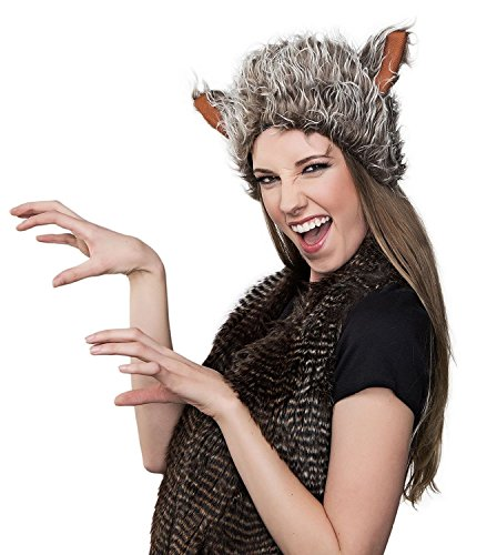 Kangaroo Furry Wolf Hat - One Size (Little Red Riding Hood Costume For Kids)