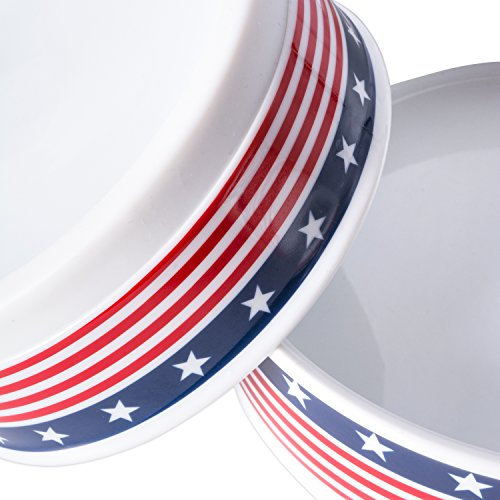 Bone Dry DII Patriotic Ceramic Pet Bowl for Food & Water with Non-Skid Silicone Rim for Dogs and Cats (Large - 7.5'' Dia x 4'' H) Stars and Stripes by Bone Dry (Image #2)