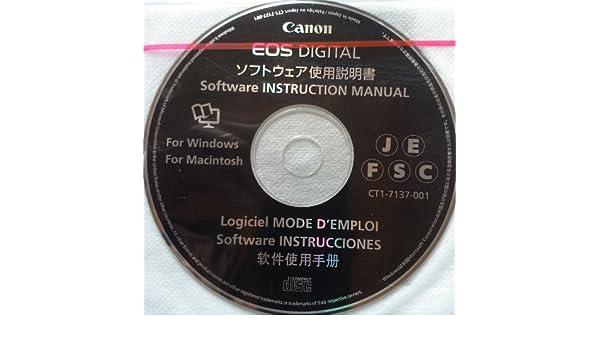 amazon com canon eos digital software instruction manual rh amazon com eos software instruction manuals disk eos digital software instruction manuals disk download
