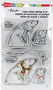 Stampendous Polar Bears Cling Stamp and Die Set