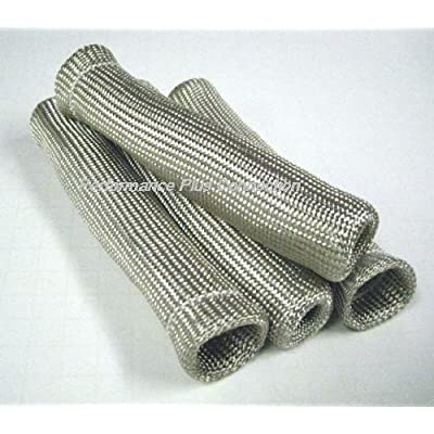 Silver Heat Protector Insulating Fire Sleeve Spark Plug Wire Boot 4 Cyl: Automotive
