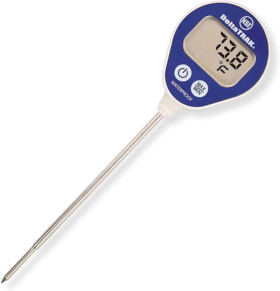 DeltaTrak 11050 FlashCheck Waterproof Lollipop Min/Max Auto-Cal Thermometer