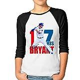 Women's Customized Kris Chicago Bryant Baseball Tee Black Size M