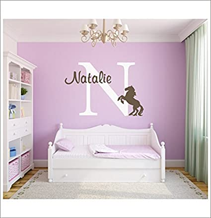 Amazon.com: Horse Vinyl Decal Set Large Personalized Vinyl Wall ...