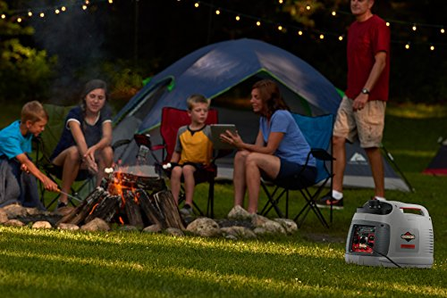 Briggs & Stratton 30651 P2200 PowerSmart Series Portable 2200-Watt Inverter Generator with Parallel Capability