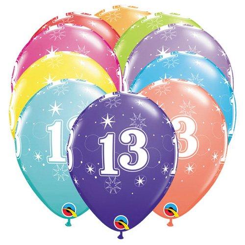 Qualatex Latex Balloons 49594-Q 13-A-ROUND 11 Multicolored 6 PK