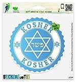 """Kosher Vinyl Car Bumper Window Sticker 2"""" x 2"""""""