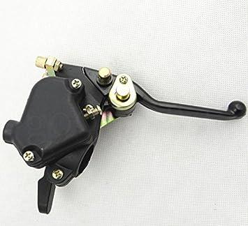 HuoPu - Maneta de freno doble para el acelerador, 4 frenos delanteros de mano, Mini Moto Quad Pit Bike ATV: Amazon.es: Coche y moto