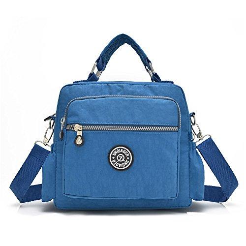 - GuiShi(TM) Women Fashion Satchel Tote Shoulder Handbag Waterproof Top Handle Multi-function Nylon Travel Bag (Ocean Blue)