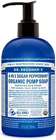 Dr. Bronner's Organic Sugar Soap - (Peppermint, 12 oz)
