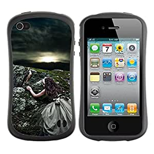 Suave TPU GEL Carcasa Funda Silicona Blando Estuche Caso de protección (para) Apple Iphone 4 / 4S / CECELL Phone case / / Nature Sun Bird Storm Summer /