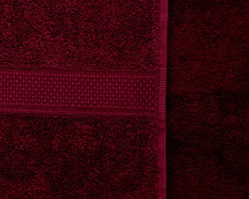 Toallas de algodón peinado Bedding Direct UK (500 g/m²), algodón, granate, Toalla de baño: Amazon.es: Hogar