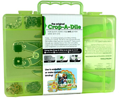 Crop A Dile hole puncher, eyelet & snap setter all in one!