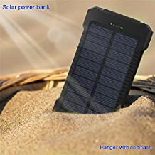 Best Portable Waterproof 500000 mAh Dual USB Portable Solar Battery Charger Solar Power Bank For iPhone X / 8 / 8 Plus / 7 / 7 Plus / Samsung Galaxy 8 / S8 Plus / iPad /Tablet /BestSellersAmazinTrendz