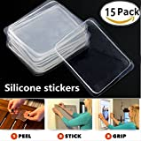 15 Pack Transparent Silicone Fixate Gel Pad Anti Slip Multifunction Non-Slip Wall Sticker Free Adhesive sticky