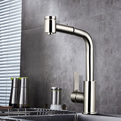 Bazal Kitchen Best Commercial Stainless Steel Single Handle Pull Down  Sprayer Kitchen Faucet, Pull Out