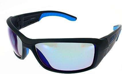 Julbo Run Sonnenbrille Unisex Erwachsene Mattschwarz Blau Sport Freizeit