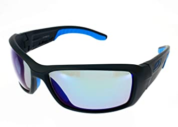 Julbo Run - Gafas de Sol Unisex, Color Negro Mate/Azul ...