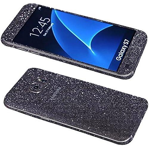 Dreams Mall(TM)Samsung Galaxy S7,Hot Fashion Bling Glitter Crystal Diamond Whole Body Protector Film Sticker,Black Sales