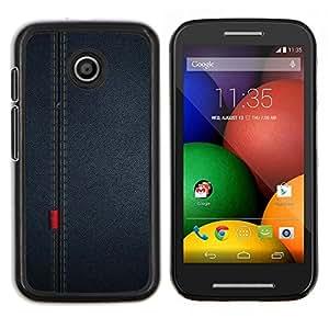 EJOOY---Cubierta de la caja de protección para la piel dura ** Motorola Moto E ** --Patrón Seam paño de la tela Diseño Textil