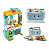 Fisher-Price Laugh & Learn Servin' Up Fun Food Truck and LeapFrog Number Lovin' Oven, Pretend Play, Learning Toys and Games for Little Ones, Fun Activity Gift Bundle for Kids