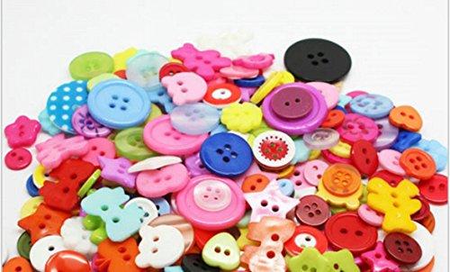 200pcs mix Assort Plastic Buttons Scrapbooking Sewing Craft Appliques 9mm-20mm (Halloween Store Portland Oregon)
