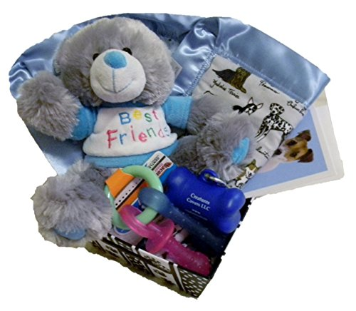 Welcome New Puppy gift basket - Blue